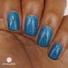 Picture Polish Maldives cyan blue holographic nail polish swatch