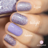 Picture Polish Twilight purple lilac holographic nail polish swatch comparison
