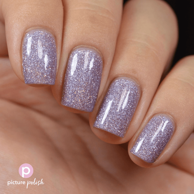 Picture Polish Twilight purple lilac holographic nail polish swatch
