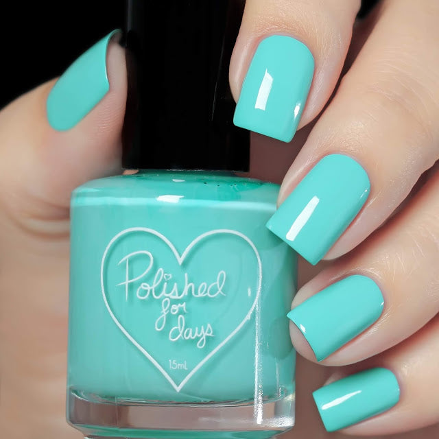 Polished for Days Ocean Mint aqua creme nail polish