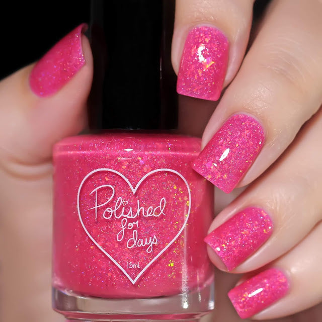 Polished for Days Speio hot pink nail polish