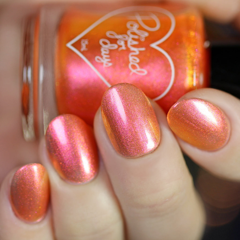 Polished for Days Zero orange nail polish The Nightmare Collection
