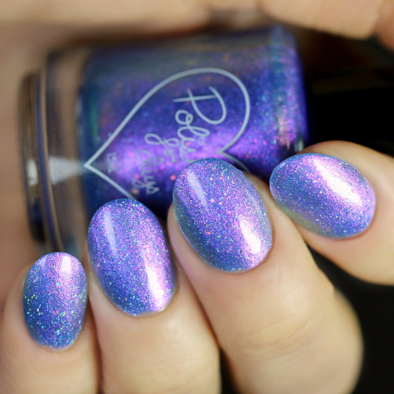 Polished for Days A Dream Is A Wish shimmer nail polish swatch Imagination Collection