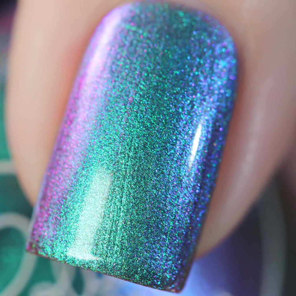 Polished for Days Cloudburst multichrome nail polish swatch Enchanted Woods Collection