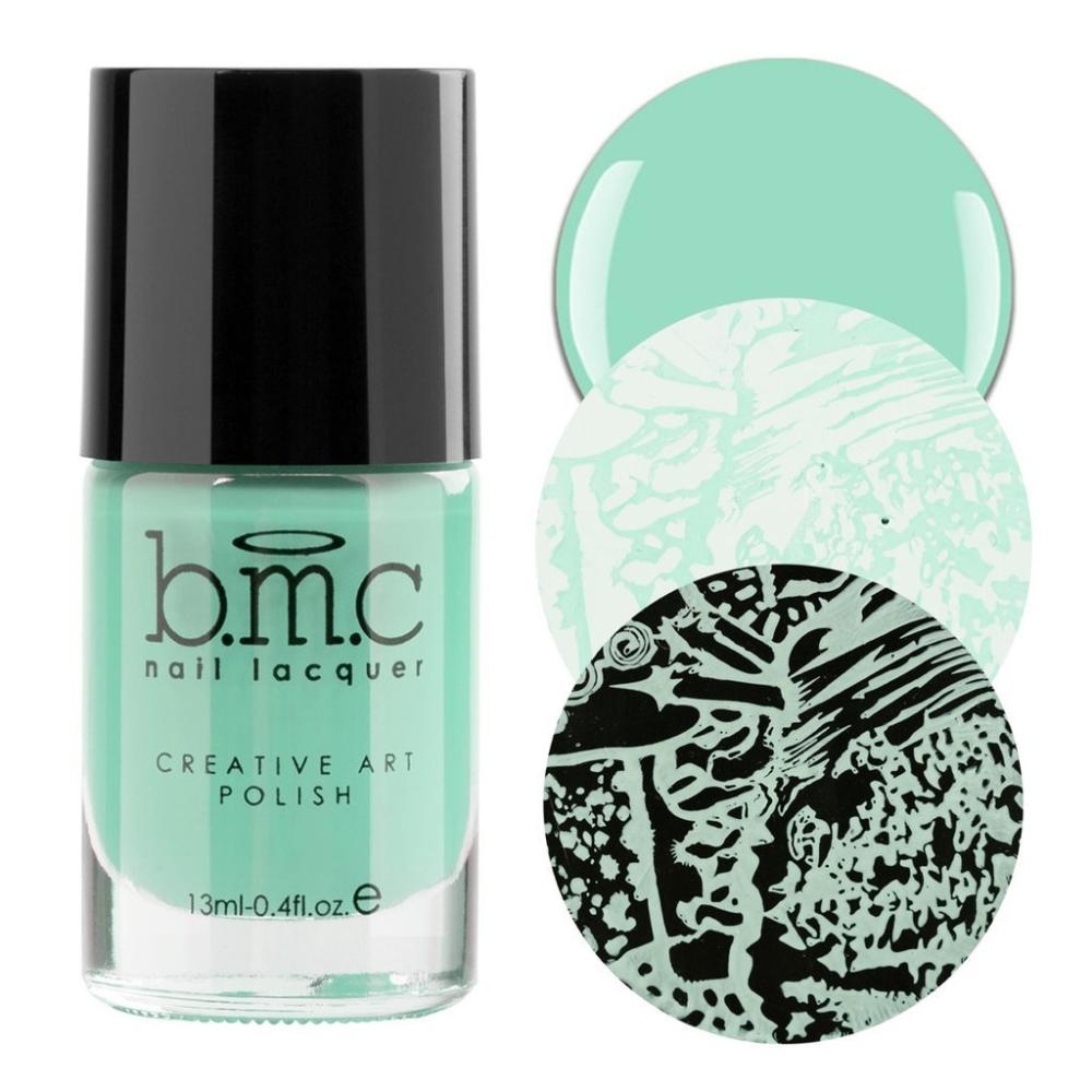 Bundle Monster Rocko Wear pastel mint green stamping nail polish
