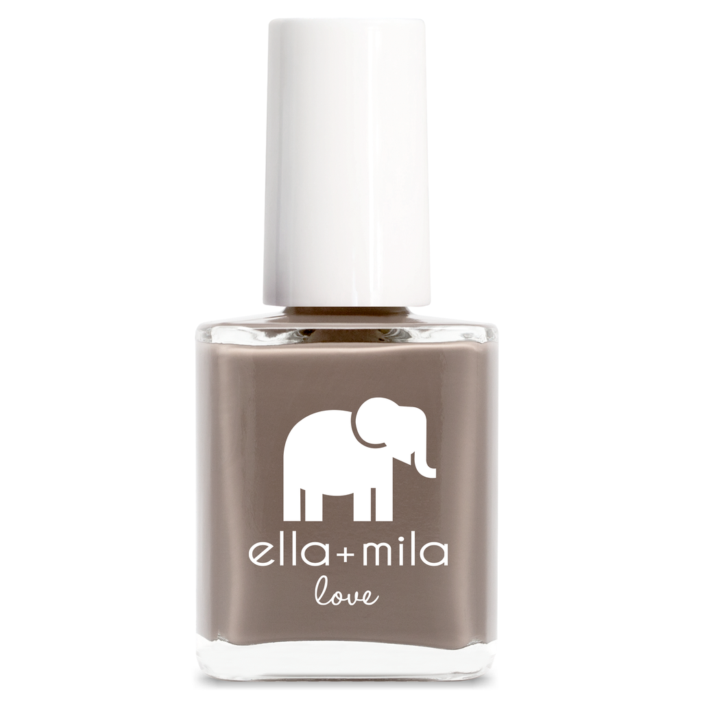 ella mila Sandstorm brown neutral cream nail polish