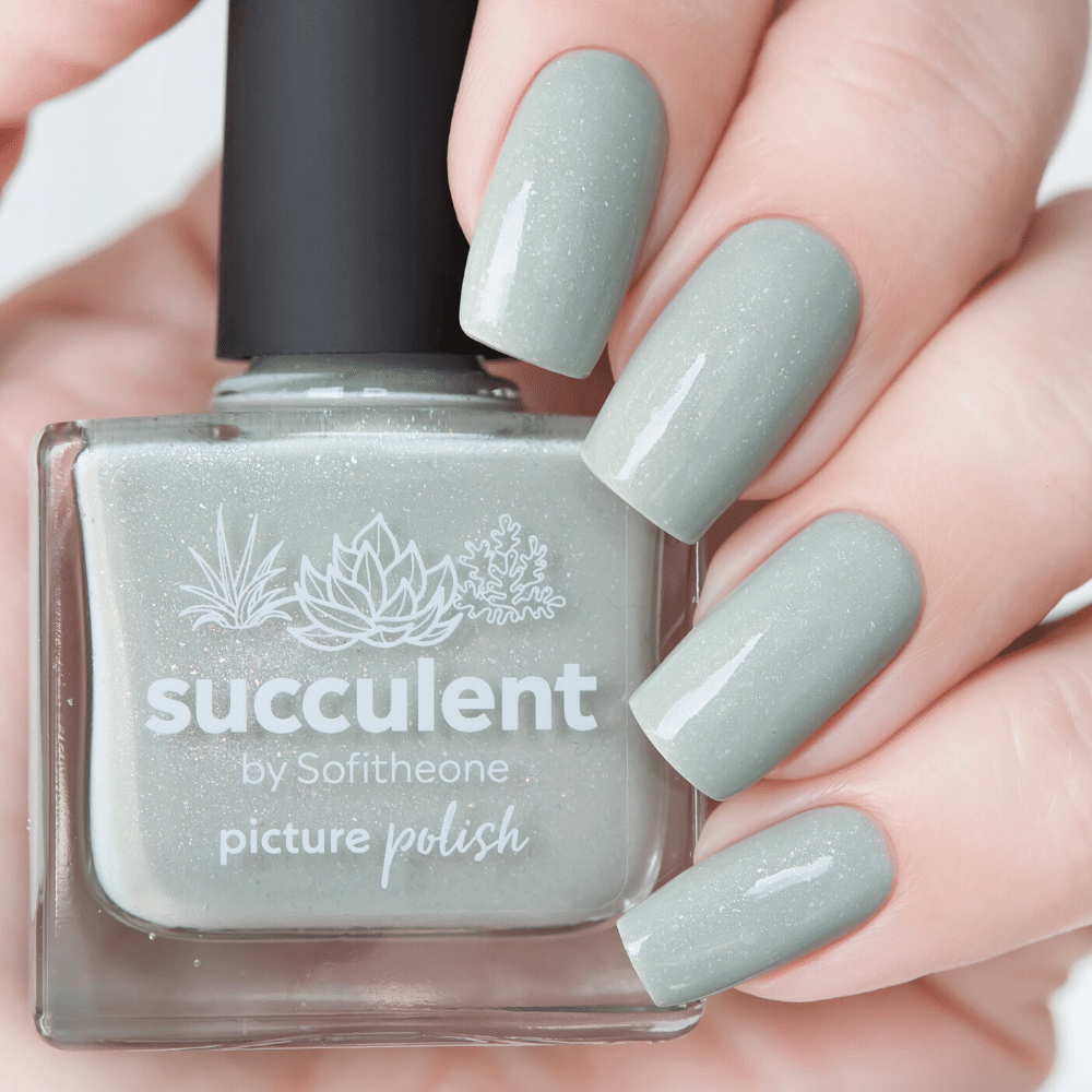 Picture Polish Succulent pale mint holographic nail polish swatch