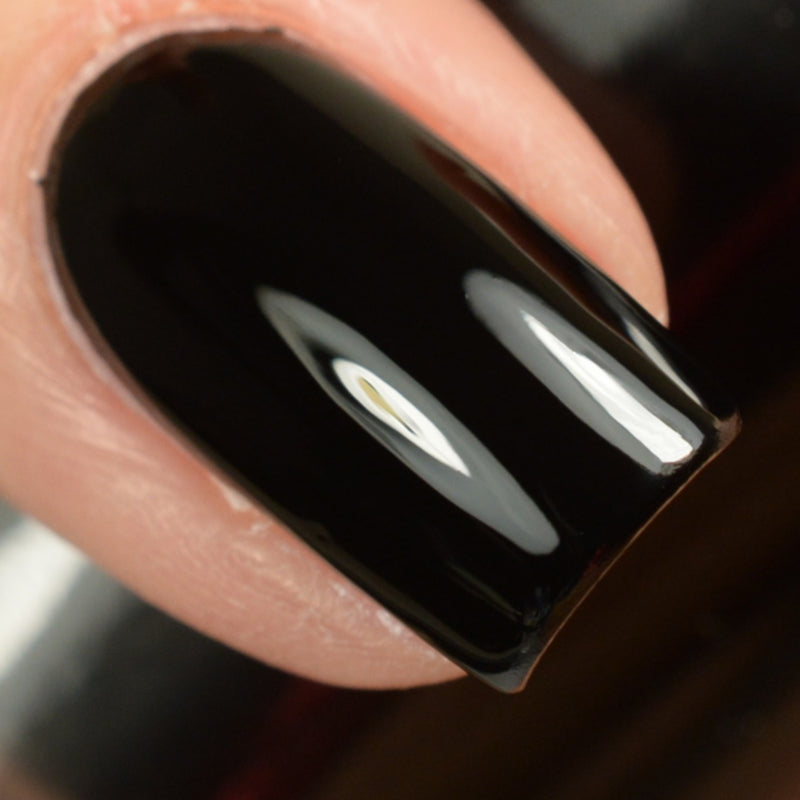 KBShimmer Total Eclipse black creme nail polish swatch