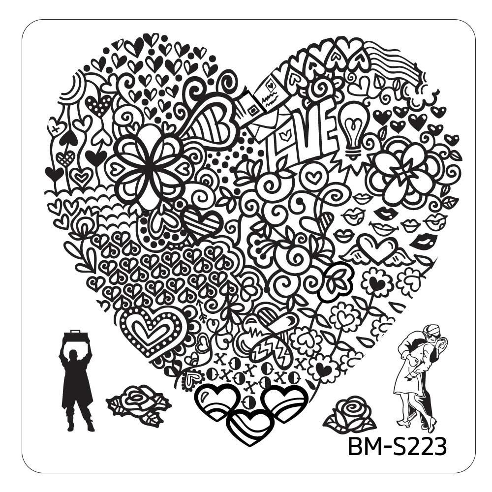 Valentines Day Stamping Plate - Heart's Buffet