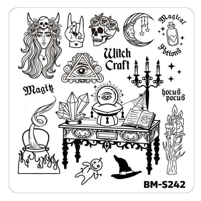 House of Horrors Stamping Plate - It's Witch Craft