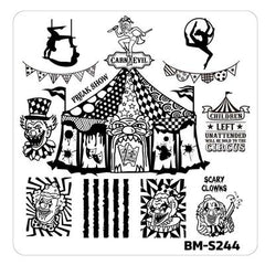 House of Horrors Stamping Plate - Carn-Evil