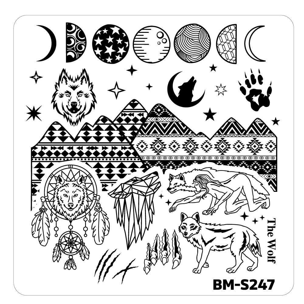 House of Horrors Stamping Plate - She-Wolf Spirit