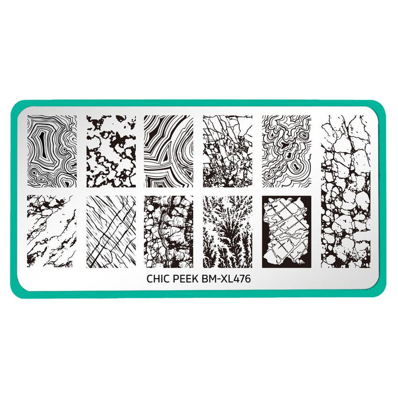 Maniology Chic Peek Heart of Stone BM-XL476 stamping plate