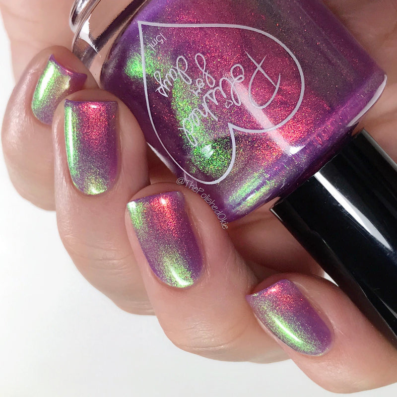 Polished for Days Eventide shimmer nail polish PFD x Okie Sunset Duo