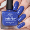 Picture Polish Water Lily blue holographic nail polish swatch