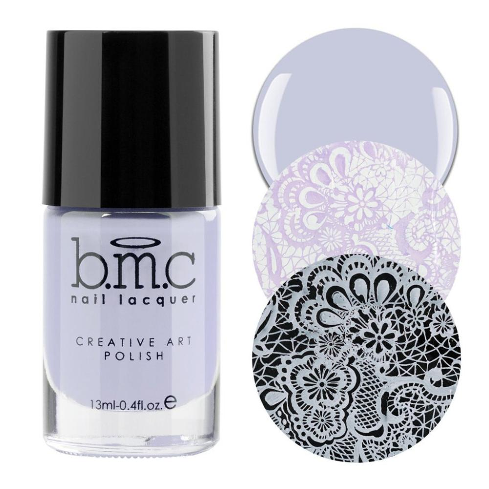 Bundle Monster Yummy Gummy pale pastel purple stamping nail polish