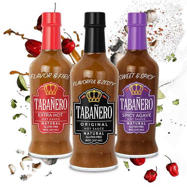 Hot Sauce Fiesta Kit, 8oz. (3 Pack) Bottle - Tabanero