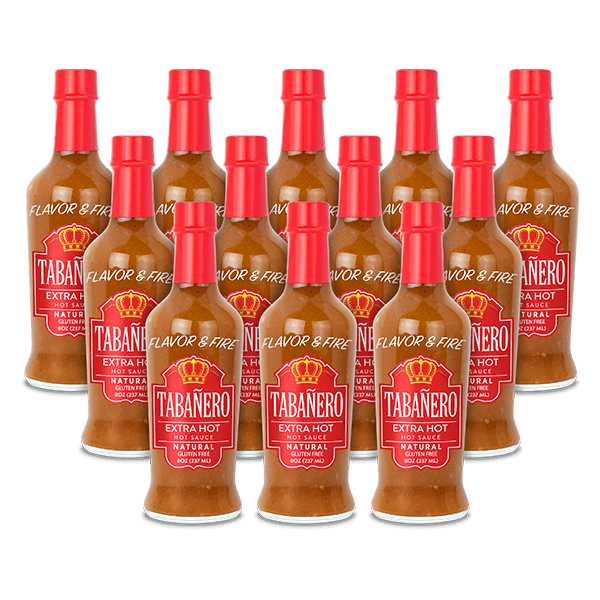 Extra-Hot, 8oz. (12 Pack) Bottle - Tabanero