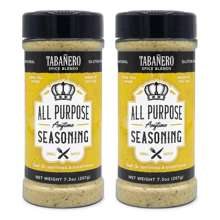 Tabañero Spice Blends All-Purpose Anytime Seasoning, 7.3 oz. (2 Pack) - Free Shipping Spice Blend - Tabanero