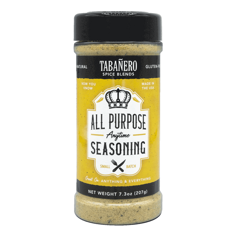Tabañero Spice Blends All-Purpose Anytime Seasoning, 7.3 oz. - Free Shipping Spice Blend - Tabanero