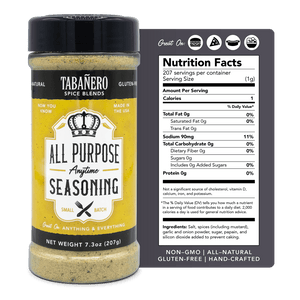 "All-Purpose ""Anytime"" Seasoning, 7.3 oz. (2 Pack) - Tabanero"