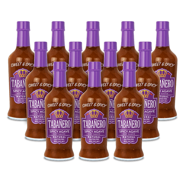 Spicy Agave, 8oz. (12 Pack) - Free Shipping Bottle - Tabanero