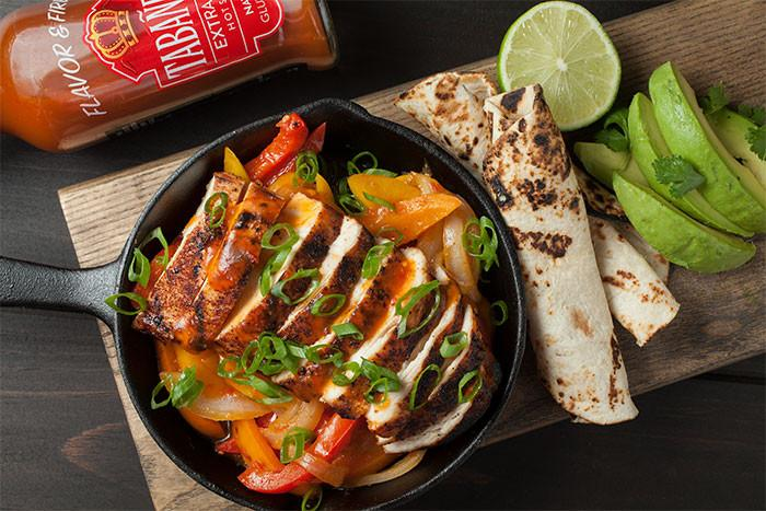 Tabanero Extra Hot Chicken Fajitas with Blistered Tortillas & Avocado recipe - Tabanero