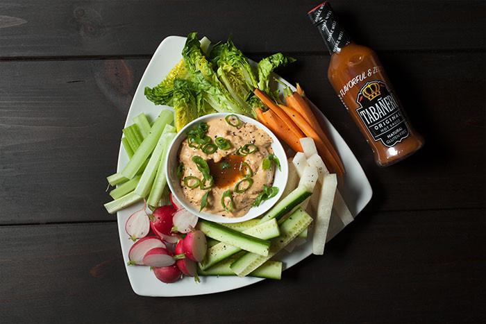 Fiery Hummus with Icy Cold Veggies  - Tabanero