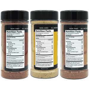 Spice Blends Fiesta Kit (Dry Rub, Blackening, & All-Purpose) Spice Blend - Tabanero