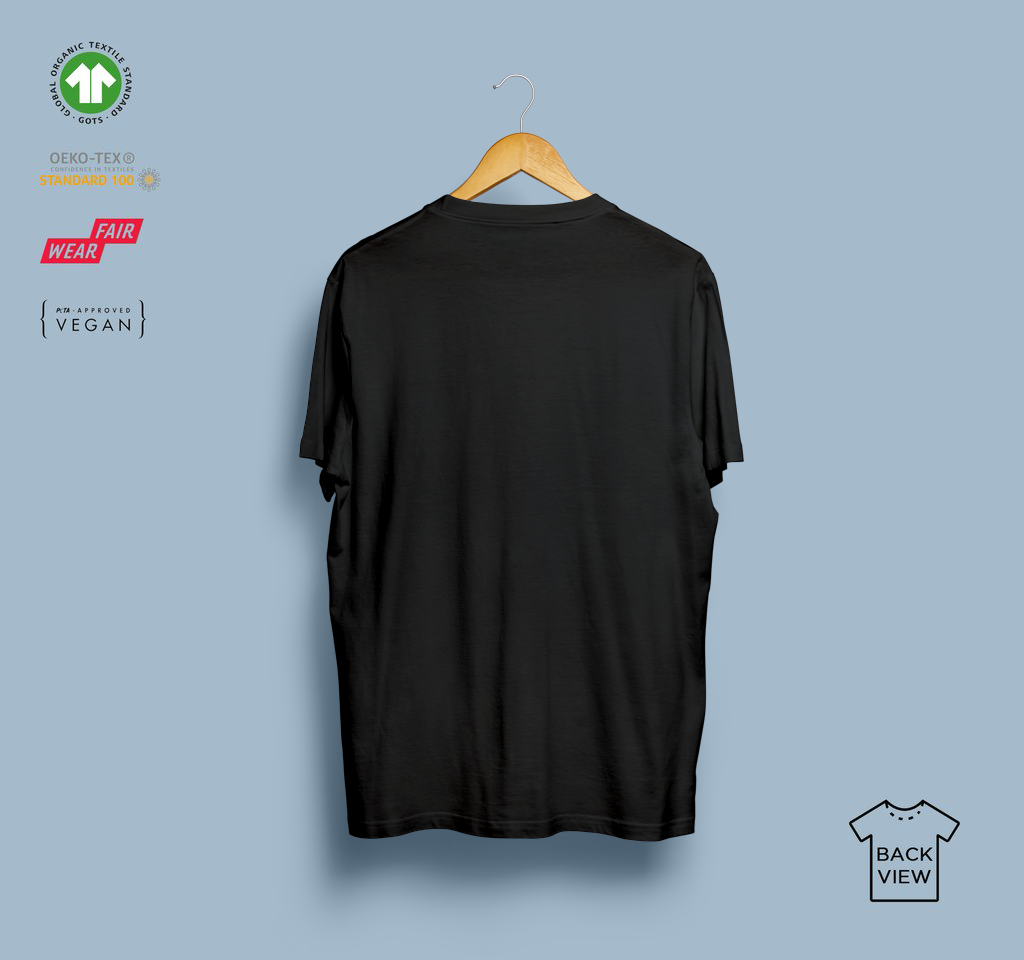 T-shirt - Eco-Games - Black - Plastron