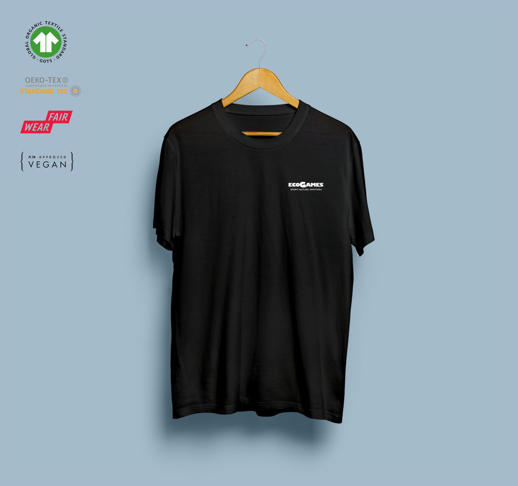 T-shirt - Eco-Games - Black - Heart