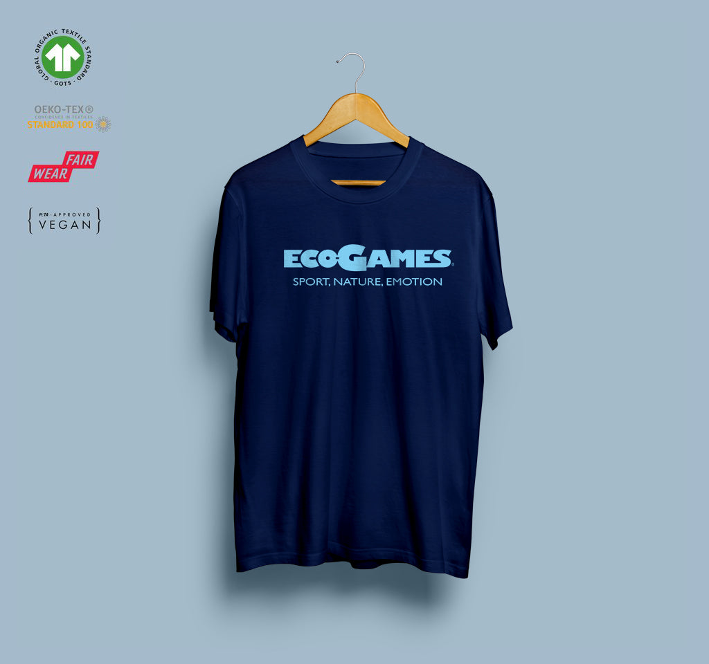 T-shirt - Eco-Games - Navy - Plastron