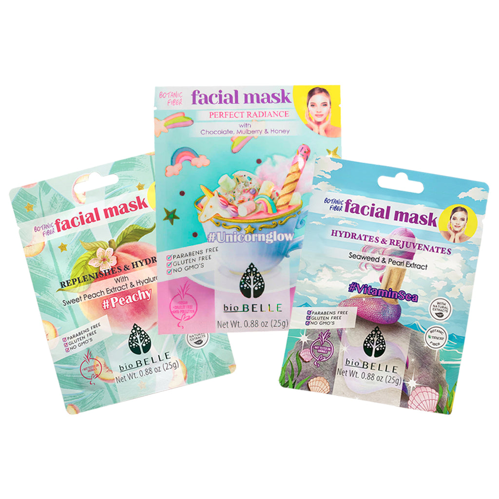 Prime + Prep Set - 3 assorted sheet masks