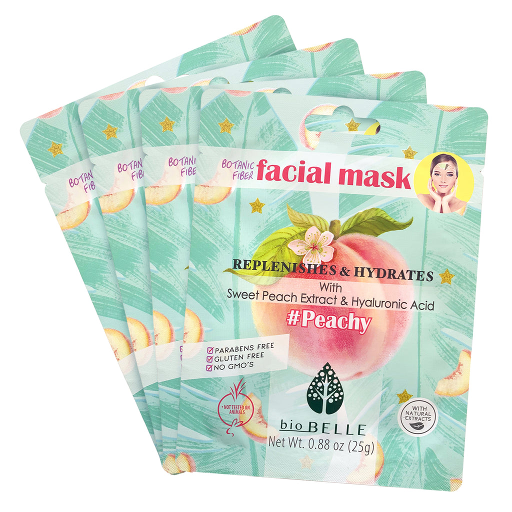Moisturizing Set - 4 #Peachy Sheet Masks