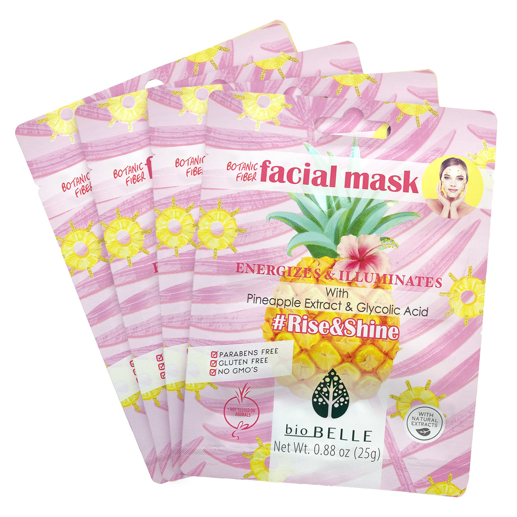 Exfoliating Set - 4 #Rise&Shine Sheet Masks