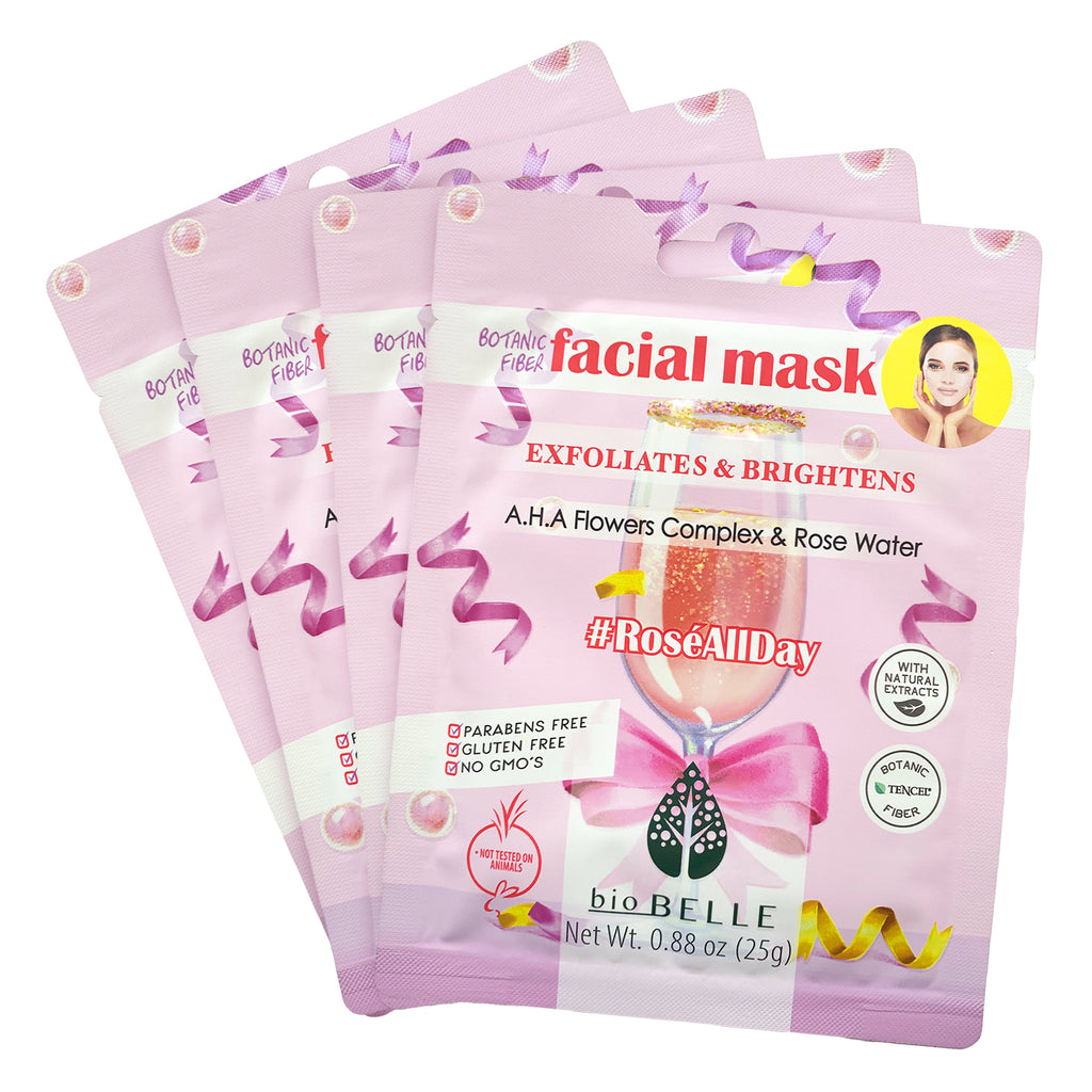 Brightening Set - 4 #ROSÉALLDAY Masks