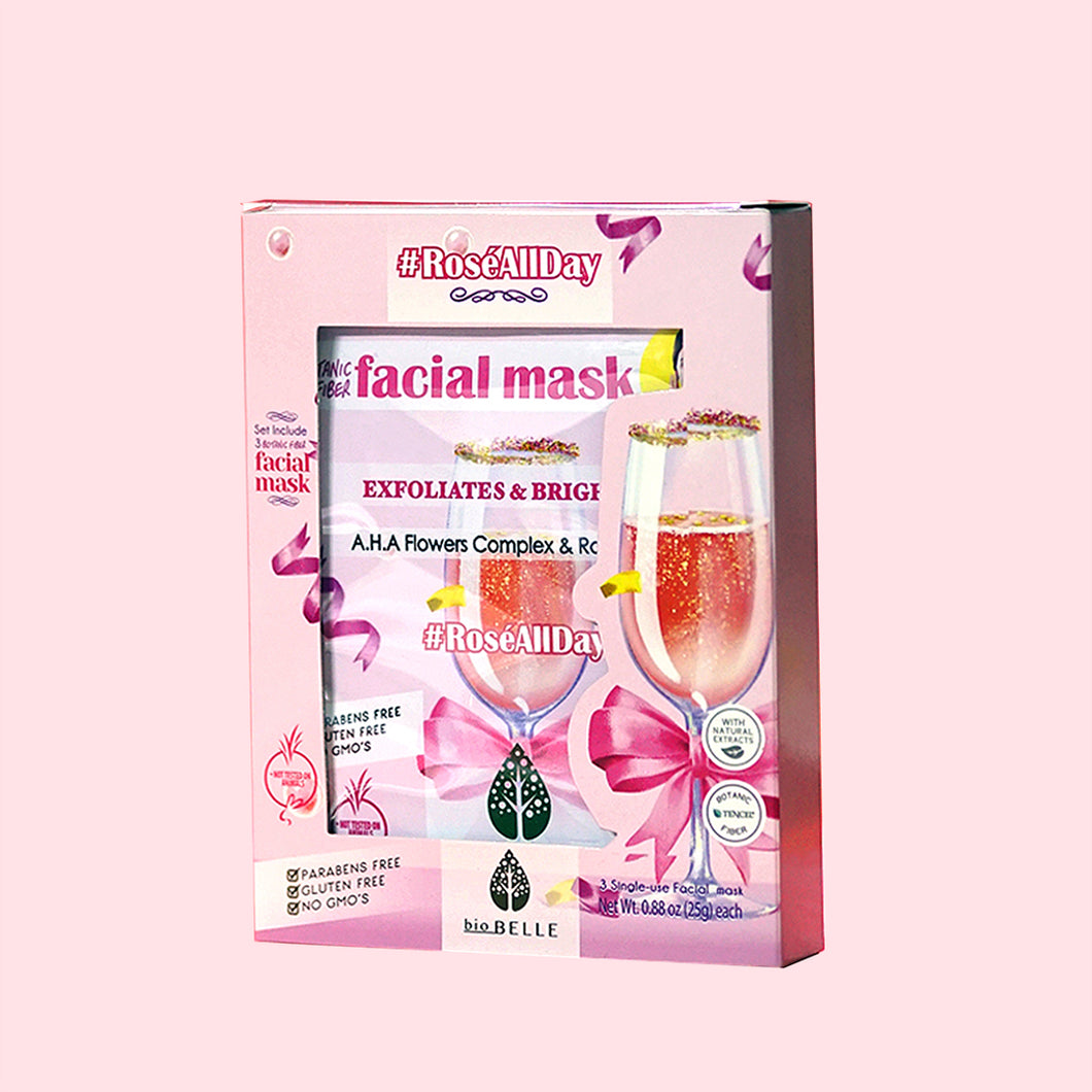 #ROSEALLDAY Rose Water & AHAs 3-mask set
