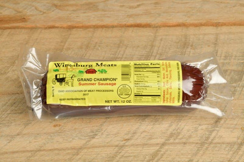 Winesburg Meats Award Winning Summer Sausage