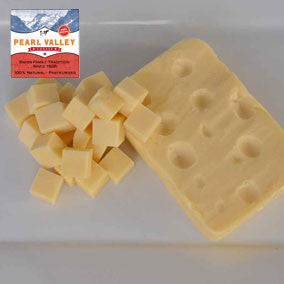Award winning Baby Swiss Cheese made by Pearl Valley Cheese House in Fresno, Ohio