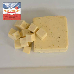 Garlic Cheese made in Amish Country by Pearl Valley Cheese in Fresno,Ohio