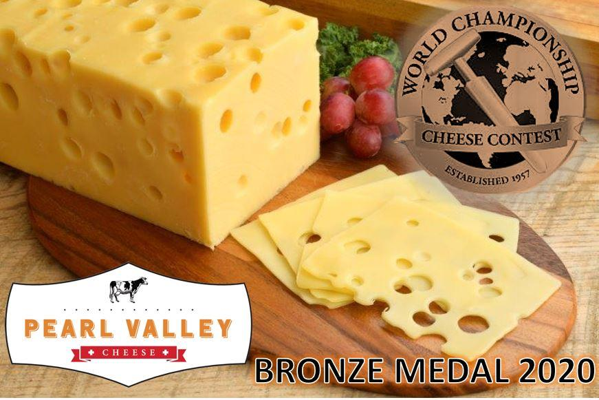Pearl Valley Cheese award winning Swiss