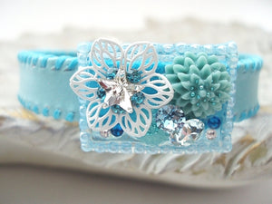 Swarovski Collar:Art Plate(pale blue)