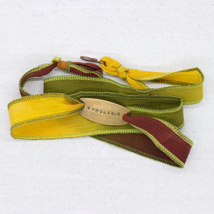 Conqueror Silk Wrap Bracelet in Autumn