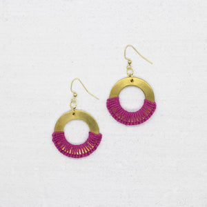 Grace Earrings - Magenta