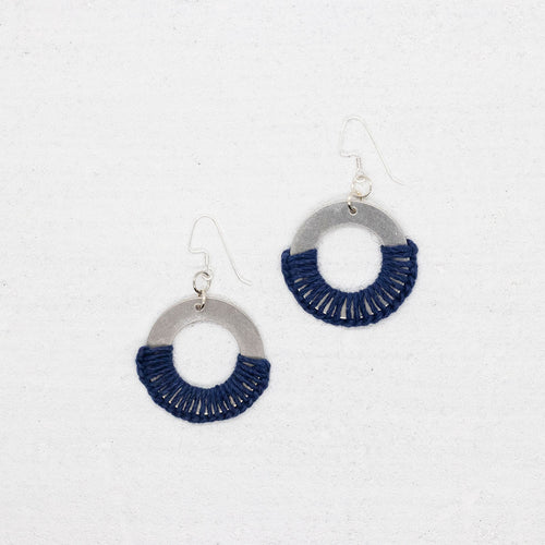 Grace Earrings - Navy