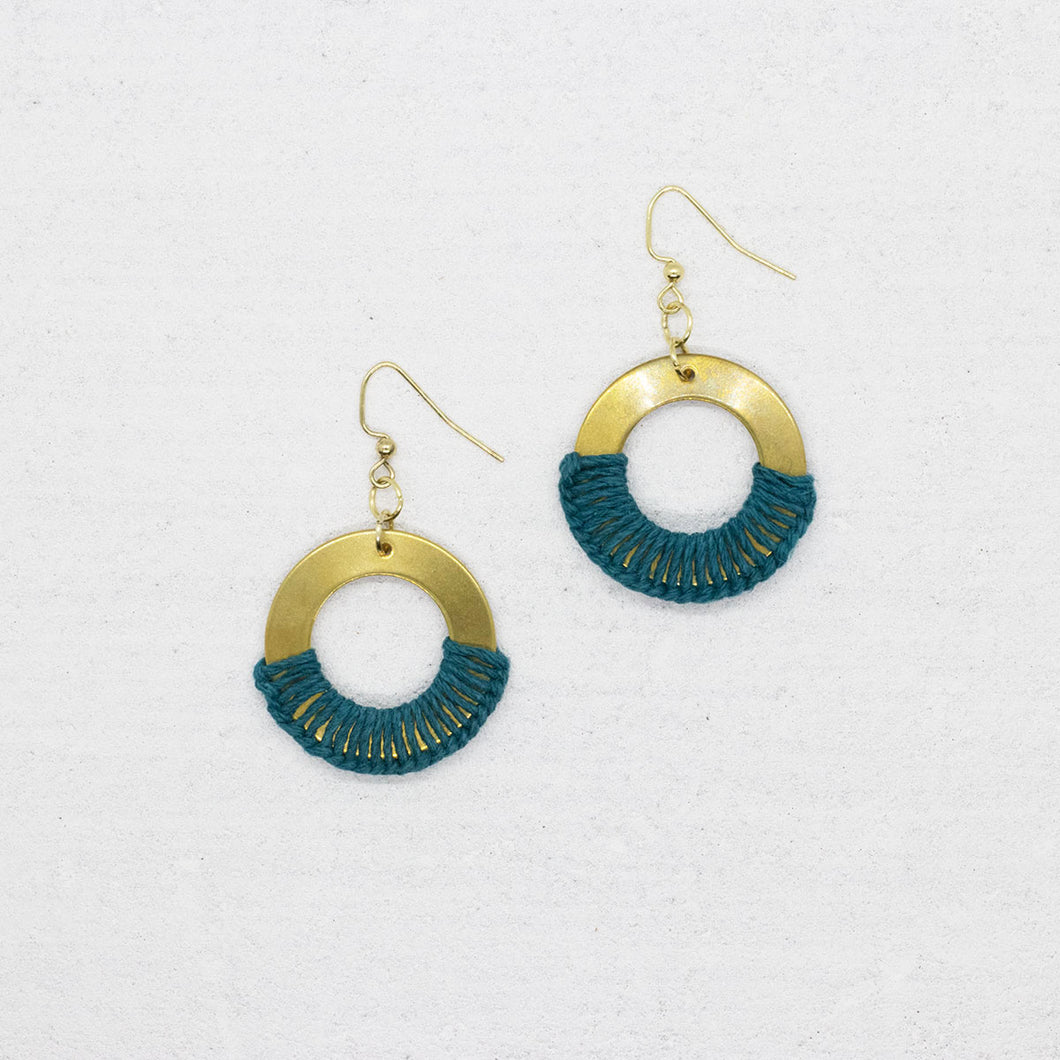 Grace Earrings - Teal