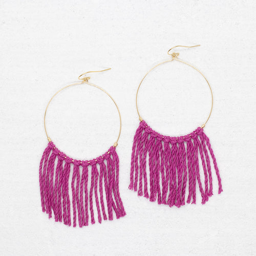 Hope Earrings - Magenta