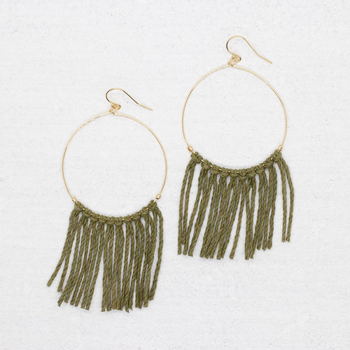 Hope Earring - Olive