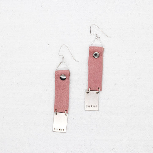 Shine Earrings - Pink