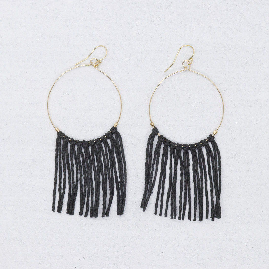 Hope Earring - Charcoal